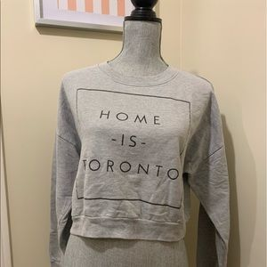 Peace Collective cropped gray sweater lounge wear